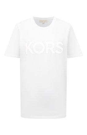 Женская хлопковая футболка MICHAEL MICHAEL KORS белого цвета, арт. MS150BJ97J | Фото 1