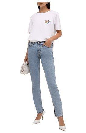 Женская хлопковая футболка MICHAEL MICHAEL KORS белого цвета, арт. MU1503B97J | Фото 2