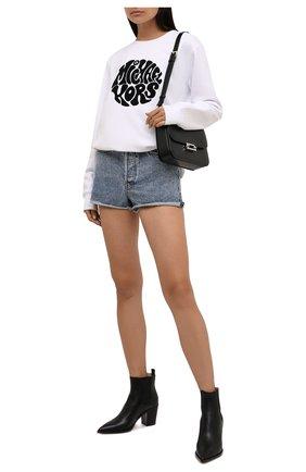 Женский хлопковый свитшот MICHAEL MICHAEL KORS белого цвета, арт. MU150BG23G | Фото 2