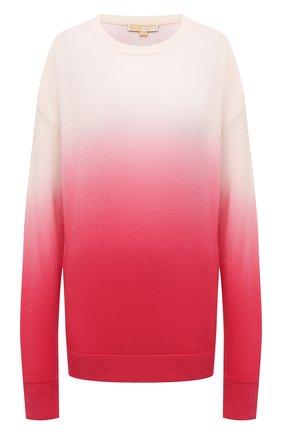 Женский кашемировый пуловер MICHAEL MICHAEL KORS розового цвета, арт. MU1601Y2FE | Фото 1