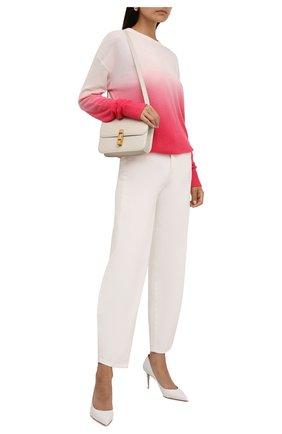 Женский кашемировый пуловер MICHAEL MICHAEL KORS розового цвета, арт. MU1601Y2FE | Фото 2