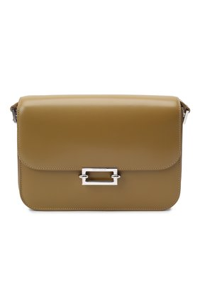 Женская сумка fermoir SAINT LAURENT хаки цвета, арт. 657186/2VL0N | Фото 1 (Материал: Натуральная кожа; Сумки-технические: Сумки через плечо; Ремень/цепочка: На ремешке; Размер: small)