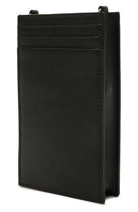 Кожаный футляр для телефона ALEXANDER MCQUEEN черного цвета, арт. 658446/1LYZZ   Фото 2