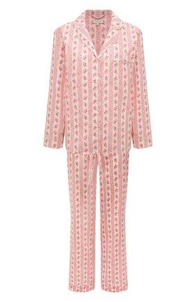 Женская хлопковая пижама YOLKE светло-розового цвета, арт. AW21-02C-FS-R0   Фото 1