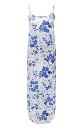 Женская шелковая сорочка YOLKE светло-голубого цвета, арт. AW21-18S-WAL-BL   Фото 1