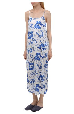 Женская шелковая сорочка YOLKE светло-голубого цвета, арт. AW21-18S-WAL-BL   Фото 2