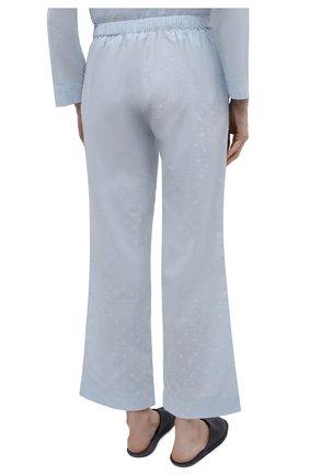Женская хлопковая пижама YOLKE голубого цвета, арт. C0RE-02C-CJ-CB | Фото 5 (Рукава: Длинные; Длина Ж (юбки, платья, шорты): Мини; Длина (брюки, джинсы): Стандартные; Длина (для топов): Стандартные; Материал внешний: Хлопок)