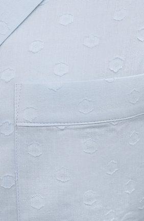 Женская хлопковая пижама YOLKE голубого цвета, арт. C0RE-02C-CJ-CB | Фото 6 (Рукава: Длинные; Длина Ж (юбки, платья, шорты): Мини; Длина (брюки, джинсы): Стандартные; Длина (для топов): Стандартные; Материал внешний: Хлопок)
