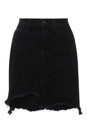 Женская джинсовая юбка 7 FOR ALL MANKIND черного цвета, арт. JSSKB340FA   Фото 1