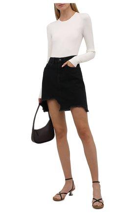 Женская джинсовая юбка 7 FOR ALL MANKIND черного цвета, арт. JSSKB340FA   Фото 2