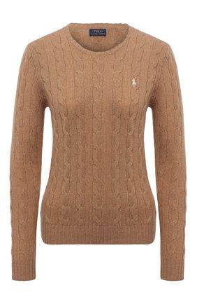 Женский шерстяной пуловер POLO RALPH LAUREN бежевого цвета, арт. 211525764   Фото 1