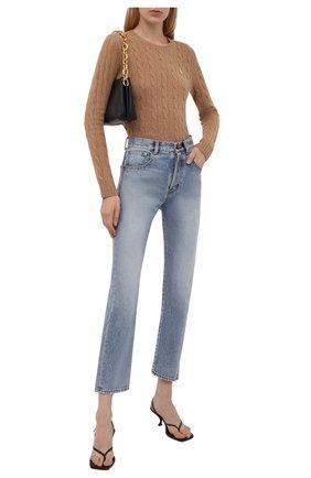 Женский шерстяной пуловер POLO RALPH LAUREN бежевого цвета, арт. 211525764   Фото 2