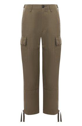 Женские брюки из шелка и льна POLO RALPH LAUREN хаки цвета, арт. 211833039 | Фото 1 (Материал внешний: Шелк, Лен; Женское Кросс-КТ: Брюки-одежда; Стили: Милитари; Силуэт Ж (брюки и джинсы): Прямые; Длина (брюки, джинсы): Стандартные)
