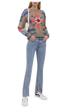 Женский свитер из хлопка и шерсти POLO RALPH LAUREN разноцветного цвета, арт. 211843146 | Фото 2 (Длина (для топов): Стандартные; Рукава: Длинные; Материал внешний: Хлопок; Женское Кросс-КТ: Свитер-одежда; Стили: Кэжуэл)