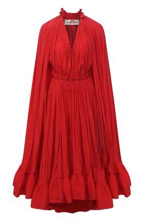 Женское платье LANVIN красного цвета, арт. RW-DR0042-4778-A21 | Фото 1