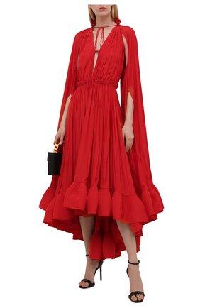 Женское платье LANVIN красного цвета, арт. RW-DR0042-4778-A21 | Фото 2