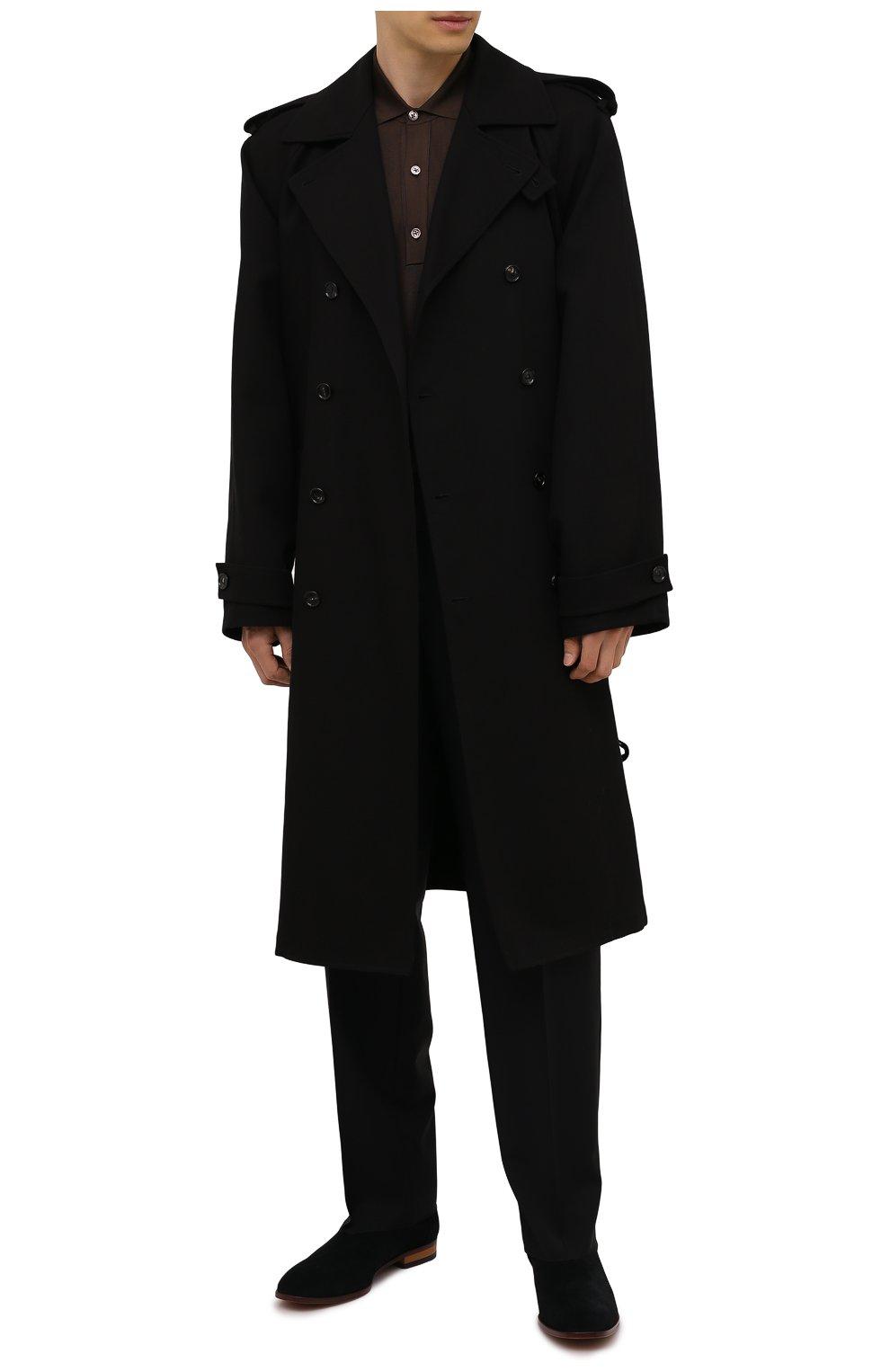 Мужские замшевые казаки HUGO черного цвета, арт. 50454862   Фото 2 (Мужское Кросс-КТ: Казаки-обувь, Сапоги-обувь; Подошва: Плоская; Материал внешний: Замша)