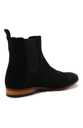 Мужские замшевые казаки HUGO черного цвета, арт. 50454862   Фото 4 (Мужское Кросс-КТ: Казаки-обувь, Сапоги-обувь; Подошва: Плоская; Материал внешний: Замша)