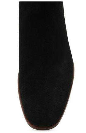 Мужские замшевые казаки HUGO черного цвета, арт. 50454862   Фото 5 (Мужское Кросс-КТ: Казаки-обувь, Сапоги-обувь; Подошва: Плоская; Материал внешний: Замша)