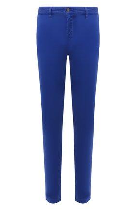 Мужские хлопковые брюки BOSS синего цвета, арт. 50442037 | Фото 1