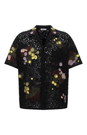 Мужская хлопковая рубашка VALENTINO черного цвета, арт. VV0AAA917D6 | Фото 1