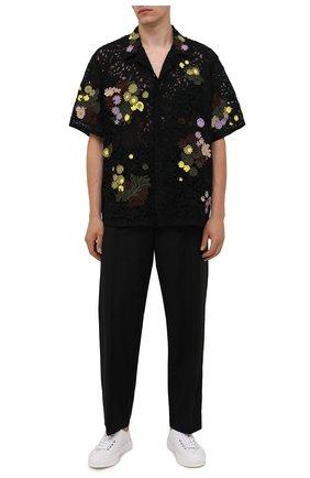 Мужская хлопковая рубашка VALENTINO черного цвета, арт. VV0AAA917D6 | Фото 2