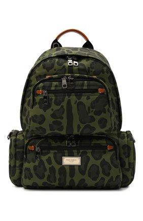 Мужской текстильный рюкзак DOLCE & GABBANA зеленого цвета, арт. BM1997/A0885 | Фото 1