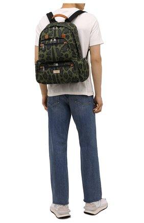 Мужской текстильный рюкзак DOLCE & GABBANA зеленого цвета, арт. BM1997/A0885 | Фото 2
