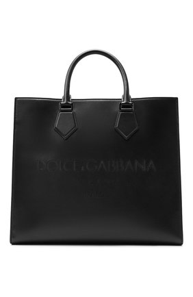 Мужская кожаная сумка-шопер edge DOLCE & GABBANA черного цвета, арт. BM1796/AS738 | Фото 1