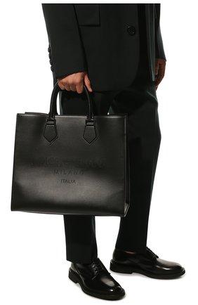 Мужская кожаная сумка-шопер edge DOLCE & GABBANA черного цвета, арт. BM1796/AS738 | Фото 2