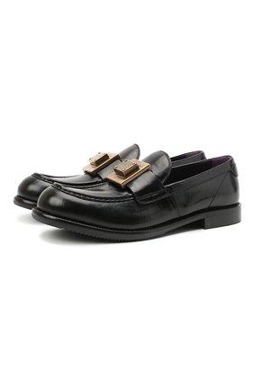 Мужские кожаные лоферы bernini DOLCE & GABBANA черного цвета, арт. A30141/A0821 | Фото 1