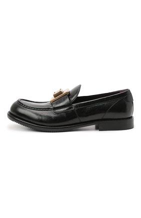Мужские кожаные лоферы bernini DOLCE & GABBANA черного цвета, арт. A30141/A0821 | Фото 3 (Материал внутренний: Натуральная кожа; Стили: Кэжуэл)