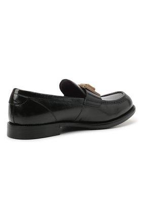 Мужские кожаные лоферы bernini DOLCE & GABBANA черного цвета, арт. A30141/A0821 | Фото 4 (Материал внутренний: Натуральная кожа; Стили: Кэжуэл)