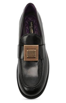 Мужские кожаные лоферы bernini DOLCE & GABBANA черного цвета, арт. A30141/A0821 | Фото 5 (Материал внутренний: Натуральная кожа; Стили: Кэжуэл)
