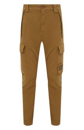 Мужские хлопковые брюки-карго C.P. COMPANY светло-коричневого цвета, арт. 11CMPA190A-005529G | Фото 1 (Материал внешний: Хлопок; Случай: Повседневный; Силуэт М (брюки): Карго; Стили: Кэжуэл; Длина (брюки, джинсы): Стандартные)