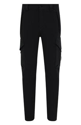 Мужские хлопковые брюки-карго C.P. COMPANY черного цвета, арт. 11CMPA187A-005529G | Фото 1 (Длина (брюки, джинсы): Стандартные; Материал внешний: Хлопок; Случай: Повседневный; Силуэт М (брюки): Карго; Стили: Кэжуэл)