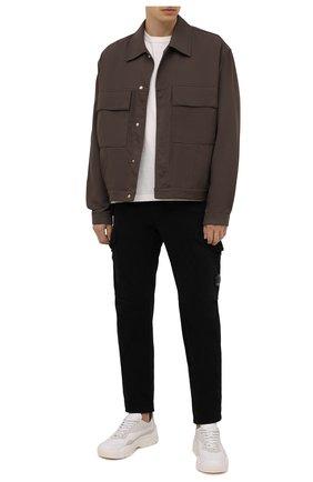 Мужские хлопковые брюки-карго C.P. COMPANY черного цвета, арт. 11CMPA187A-005529G | Фото 2 (Длина (брюки, джинсы): Стандартные; Материал внешний: Хлопок; Случай: Повседневный; Силуэт М (брюки): Карго; Стили: Кэжуэл)