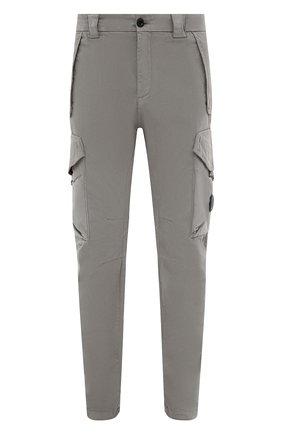 Мужские хлопковые брюки-карго C.P. COMPANY серого цвета, арт. 11CMPA187A-005529G | Фото 1 (Материал внешний: Хлопок; Длина (брюки, джинсы): Стандартные; Случай: Повседневный; Силуэт М (брюки): Карго; Стили: Кэжуэл)