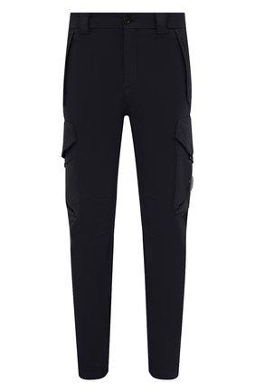 Мужские хлопковые брюки-карго C.P. COMPANY темно-синего цвета, арт. 11CMPA187A-005529G | Фото 1 (Материал внешний: Хлопок; Длина (брюки, джинсы): Стандартные; Случай: Повседневный; Силуэт М (брюки): Карго; Стили: Кэжуэл)