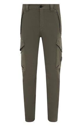 Мужские хлопковые брюки-карго C.P. COMPANY хаки цвета, арт. 11CMPA187A-005529G | Фото 1