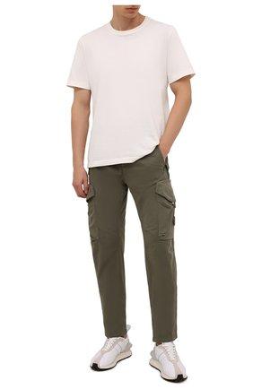 Мужские хлопковые брюки-карго C.P. COMPANY хаки цвета, арт. 11CMPA187A-005529G | Фото 2