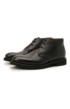 Мужские кожаные ботинки DOUCAL'S черного цвета, арт. DU1018GEN0UF019NN00 | Фото 1 (Подошва: Плоская; Материал внутренний: Натуральная кожа; Мужское Кросс-КТ: Ботинки-обувь, Дезерты-обувь)
