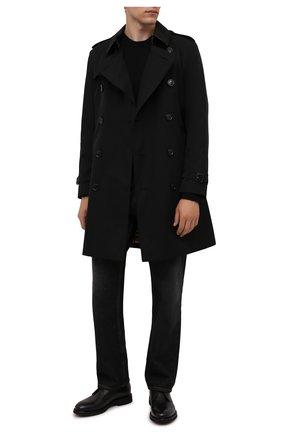 Мужские кожаные ботинки DOUCAL'S черного цвета, арт. DU1018GEN0UF019NN00 | Фото 2 (Подошва: Плоская; Материал внутренний: Натуральная кожа; Мужское Кросс-КТ: Ботинки-обувь, Дезерты-обувь)