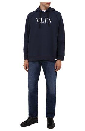 Мужские кожаные кеды DOUCAL'S черного цвета, арт. DU1796K0BEUQ019NN00 | Фото 2 (Материал утеплителя: Натуральный мех; Материал внутренний: Натуральная кожа; Подошва: Массивная)