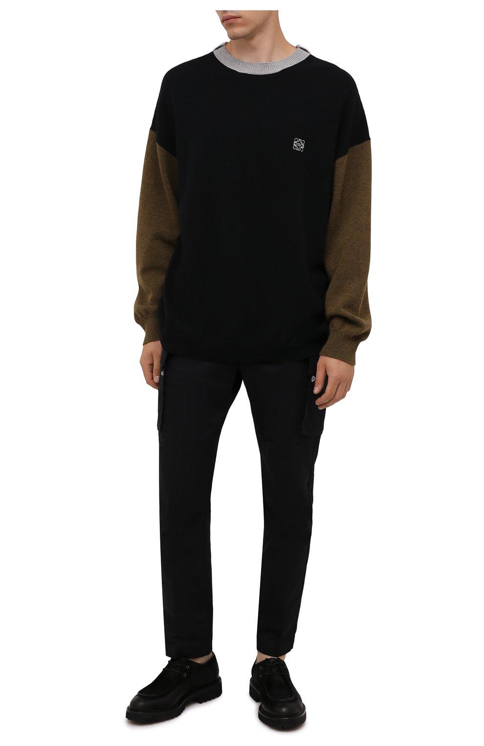Мужские кожаные дерби DOUCAL'S черного цвета, арт. DU2737PHILUF205NN00 | Фото 2 (Материал внутренний: Натуральная кожа; Стили: Классический)
