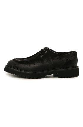 Мужские кожаные дерби DOUCAL'S черного цвета, арт. DU2737PHILUF205NN00 | Фото 3 (Материал внутренний: Натуральная кожа; Стили: Классический)