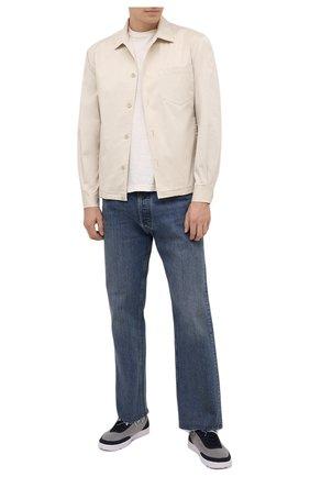 Мужские текстильные кеды ORLEBAR BROWN синего цвета, арт. 274358 | Фото 2 (Подошва: Плоская; Материал внутренний: Текстиль; Материал внешний: Текстиль)