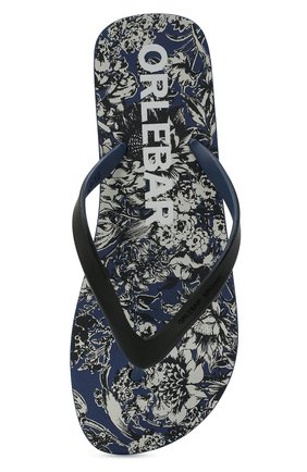Мужские резиновые шлепанцы ORLEBAR BROWN синего цвета, арт. 274350   Фото 5 (Материал внешний: Резина)