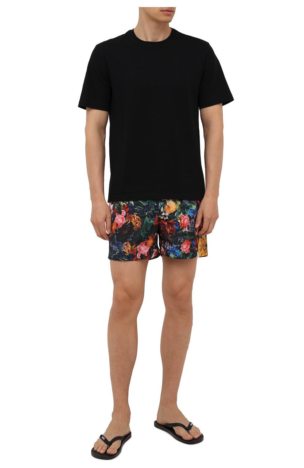 Мужские плавки-шорты ORLEBAR BROWN разноцветного цвета, арт. 274187 | Фото 2 (Материал внешний: Синтетический материал; Принт: С принтом; Мужское Кросс-КТ: плавки-шорты)