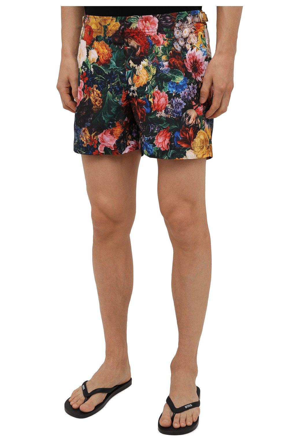 Мужские плавки-шорты ORLEBAR BROWN разноцветного цвета, арт. 274187 | Фото 3 (Материал внешний: Синтетический материал; Принт: С принтом; Мужское Кросс-КТ: плавки-шорты)